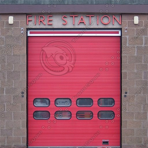 BF083 fire station building facade