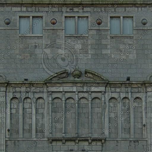 BF113 building facade front texture