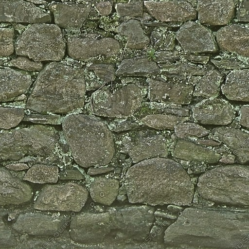 W043 dry stone wall texture