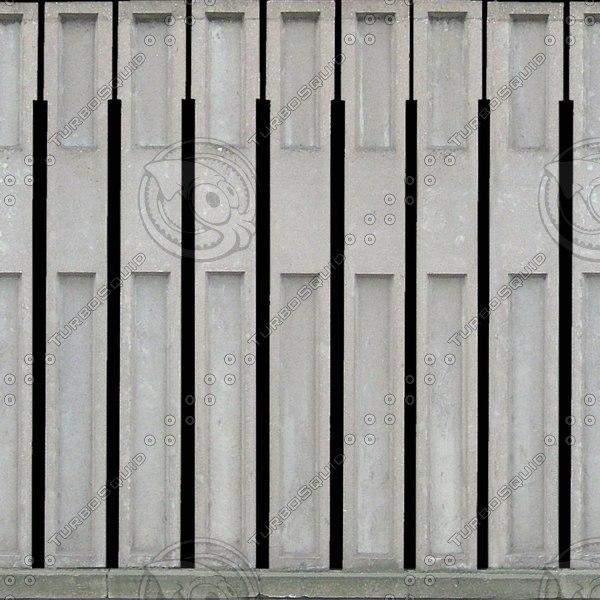 W034 concrete wall car park