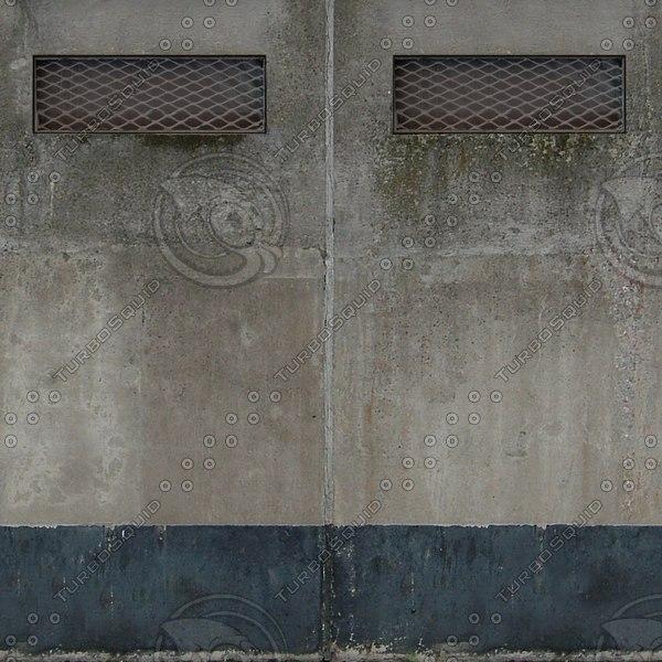 W136 concrete wall grungy