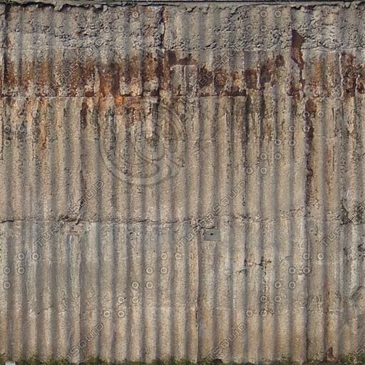 W361 corrugated concrete wall texture
