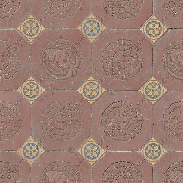 FL001 floor tiles floral texture1024