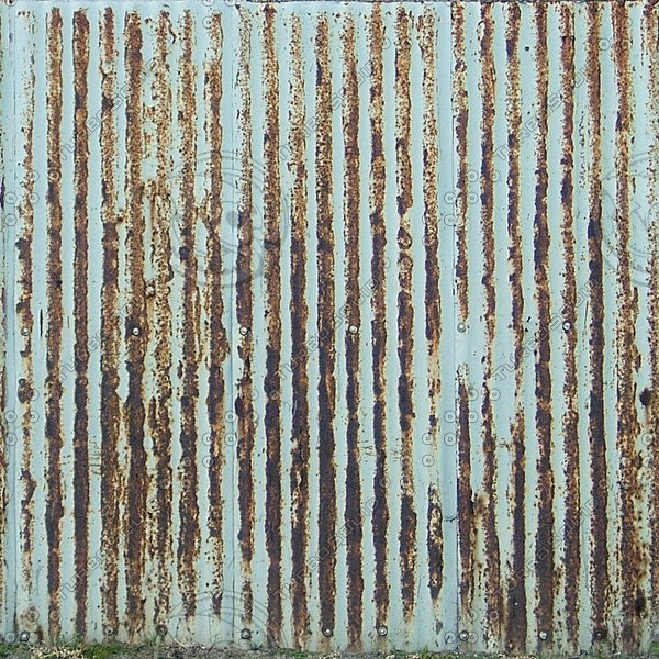 F028 metal fence corrugated