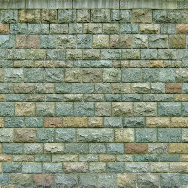 W048 colored stone wall