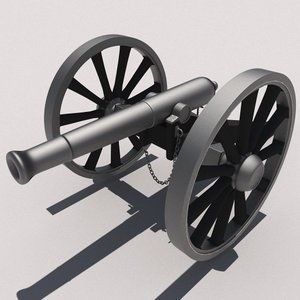civil war cannon 3d model