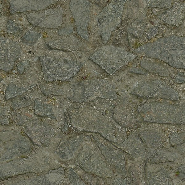 G332 cobbles stony path crazy paving