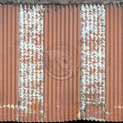 R099 corrugated tin roof texture