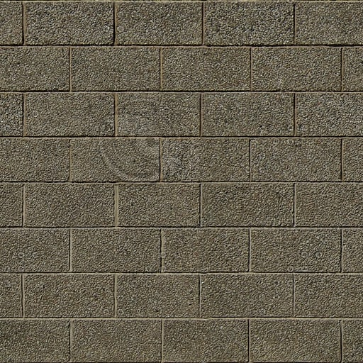 BL016 brown cinder blocks texture