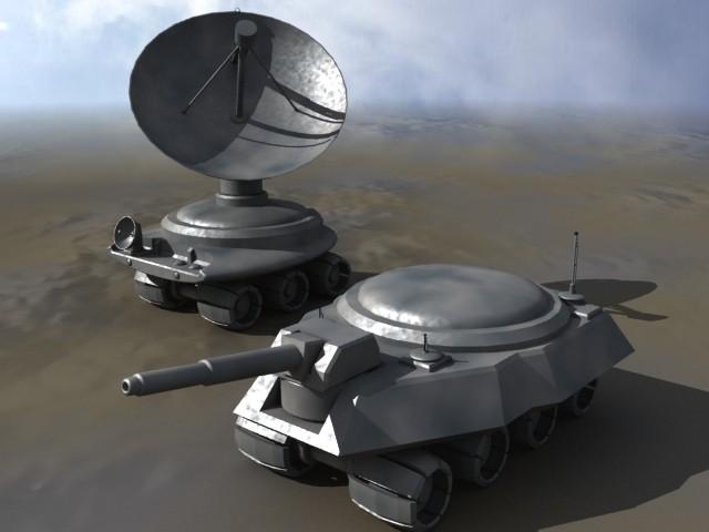 tank robotic 3d 3ds