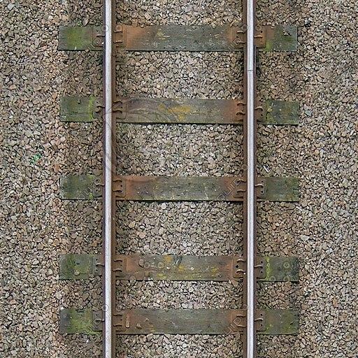 G245 railroad track wooden