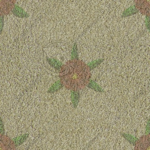 CRP010 carpet floral yellow