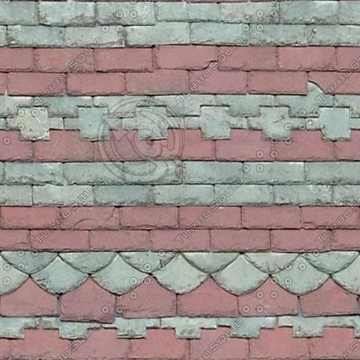R093 slate roof ornate texture