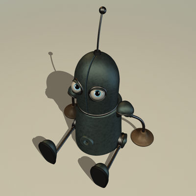 funny rutger little knight 3d model
