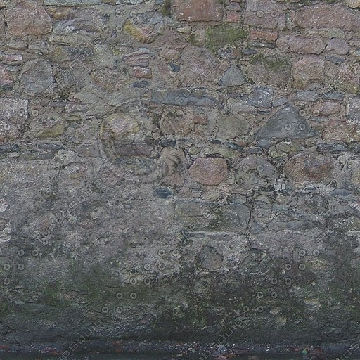 W368 very old stone wall texture