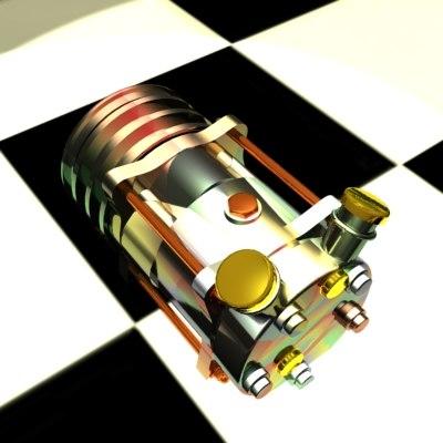 custom compressor 3d model