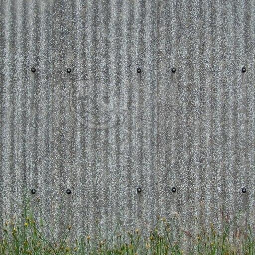 W156 corrugated metal wall