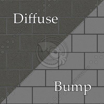 bl012 cinder blocks wall