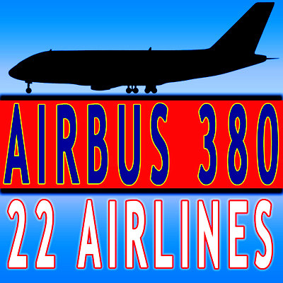 22 Airline Textures Airbus Model A380 V1