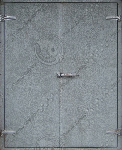 D159 metal double door texture