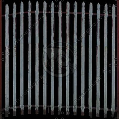 F011 palisade metal fence