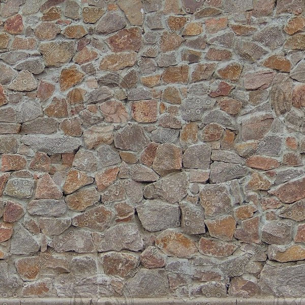 W403 stacked stone wall