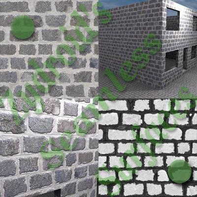 SRF stone masonry blocks texture