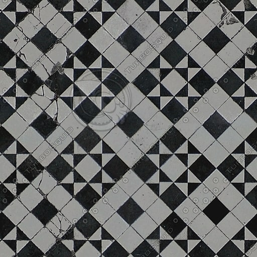 FL010 checkered floor tiles texture
