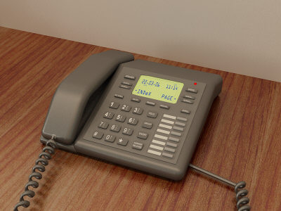 office phone 3d model