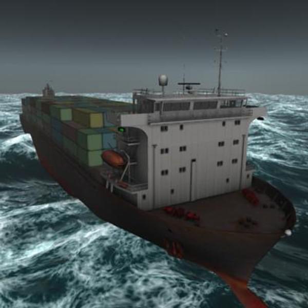 ship hyundai primorsky class 3d model