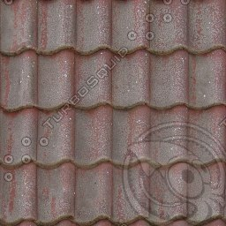 UPRF08 red stone roof tiles texture