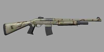 benelli nova tactical 3d model