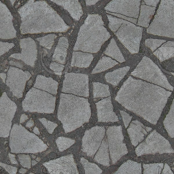 G368 broken paving stones