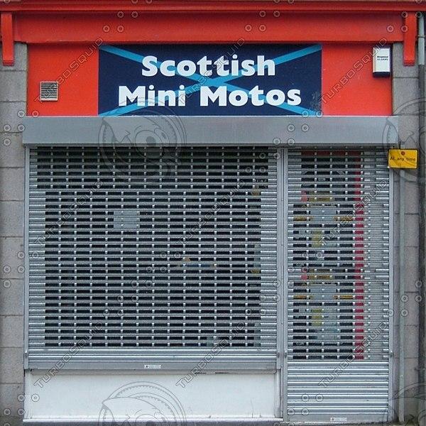 SFNT011 shop facade front texture