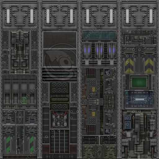 SF028 sci-fi wall texture