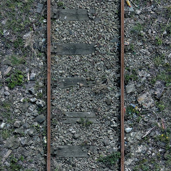 G105 disused railway tracks texture