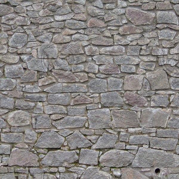 W137 stone wall granite