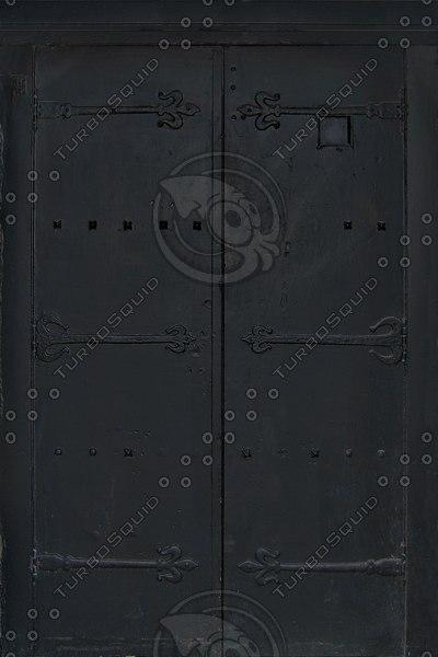 D170 medieval door black