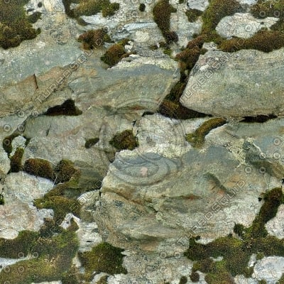 RS092 mossy rock stone texture