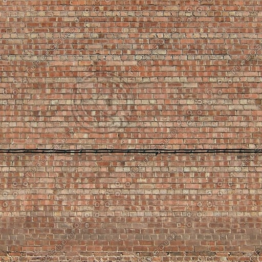 W044 red brick wall texture