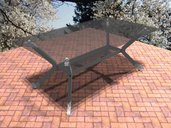 table glass 3d dwg