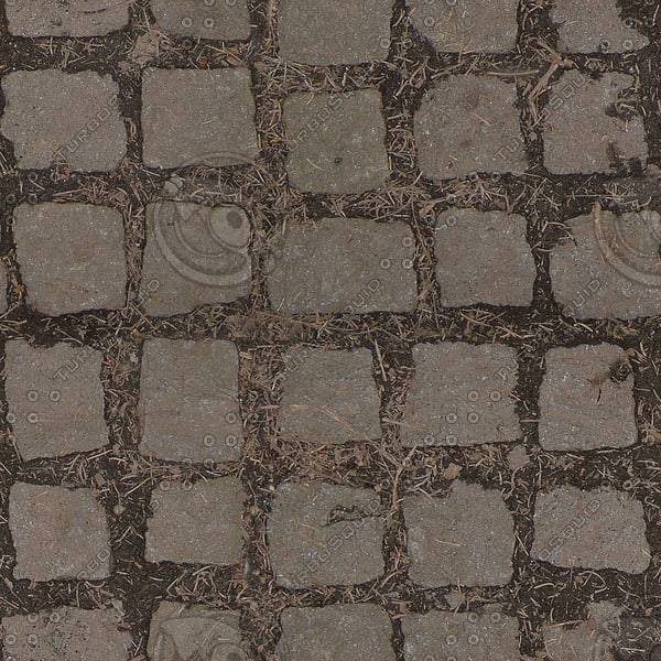 G078 cobbled stone path texture