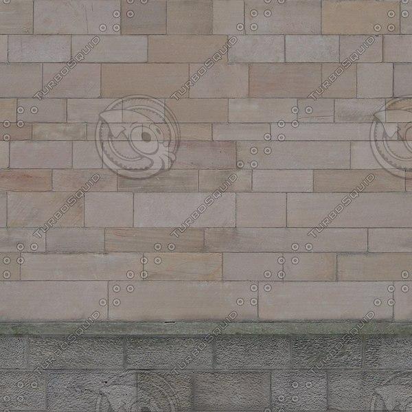 W056 sandstone stone wall