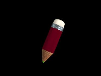 3D pencil(with eraser)