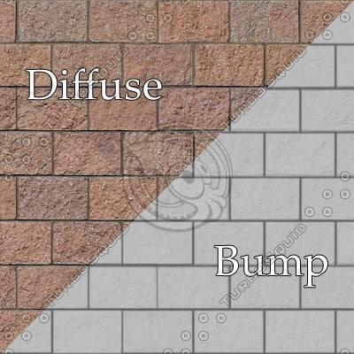 BL008 red concrete cinder blocks texture