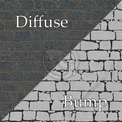 bl014 castle wall bumpmap