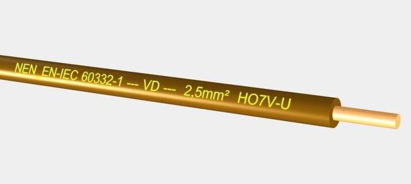 VD HO7V-U 450 750V 2,5 mm2  brown.max