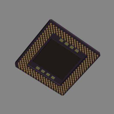3d model central cpu pins 4