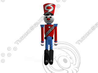 walking nutcracker soldier 3d model