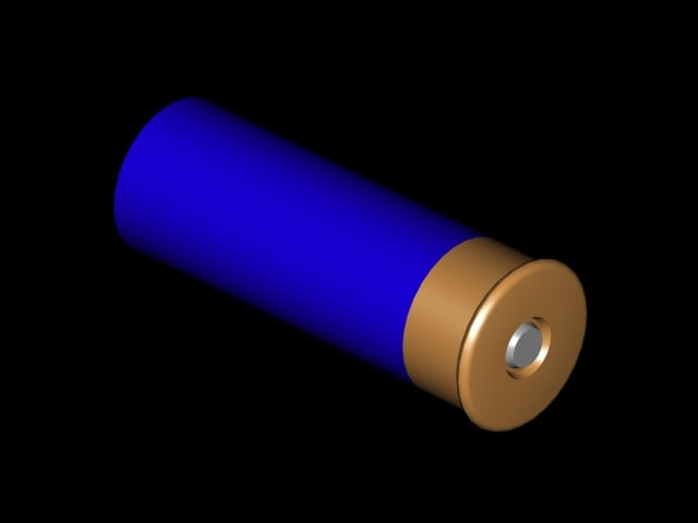 blue shotgun shell 3d model